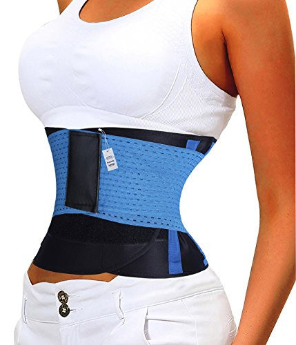 Gotoly Waist Trainer Belt Unisex Hourglass Shaper Sweat Sport Trainning Belt (XXL, Blue(Quick Weight Loss))