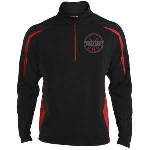 MENS HALF ZIP BEER CAP LOGO JACKET- RED LOGO- 1 COLOUR
