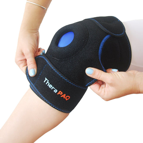 Knee Ice Wrap with Hot & Cold Gel Pack by TheraPAQ - TheraPAQ Hot & Cold Packs