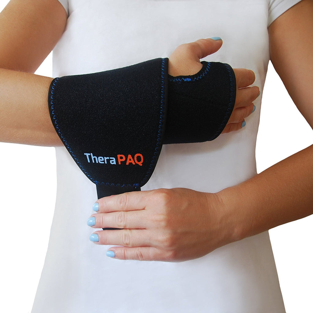 Wrist Ice Wrap with Hot & Cold Gel Pack by TheraPAQ - TheraPAQ Hot & Cold Packs