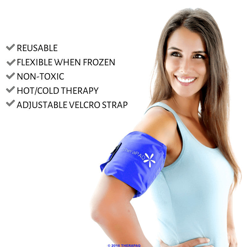 Flexible Ice Pack with Wrap for Hot & Cold Therapy by TheraPAQ