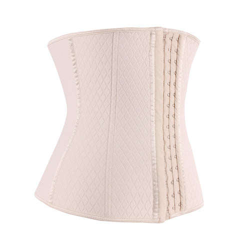 Nude Neoprene Steel Boned Lattice Waist Trainer