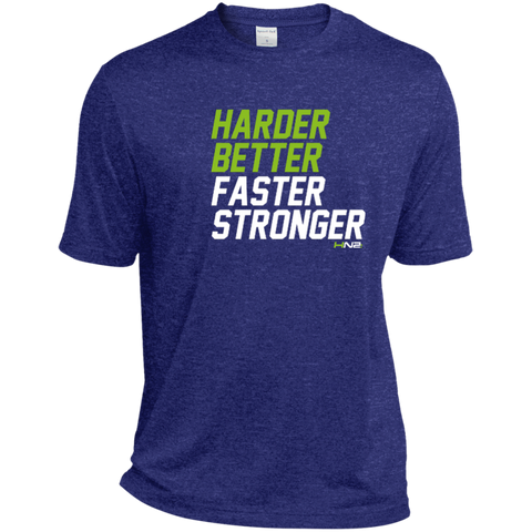 HN2: Sports and Fitness Dri-Fit Moisture-Wicking Tee Shirt Harder Better Faster Stronger