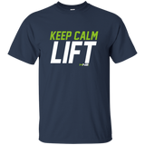 HN2: Sports and Fitness Gym Motivational Quote Printed T Shirts Keep Calm LIFT