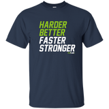 HN2: Sports and Fitness Gym Motivational Quote Printed T Shirts Harder Better Faster Stronger