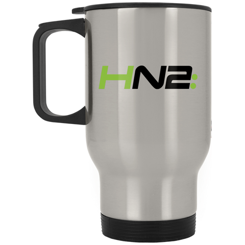HN2: Silver Stainless Travel Mug