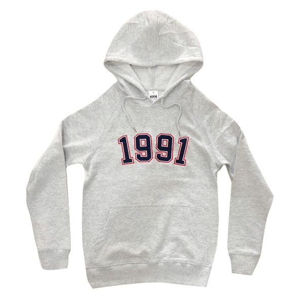 1991 Po-Lo Pull Over / White Grey Marl Q2-19