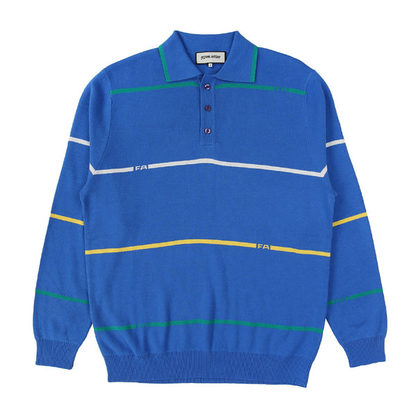 FA Stripes Knit Rugby Blue
