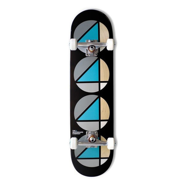 4 Skateboard Co Complete Repeat Teal Black
