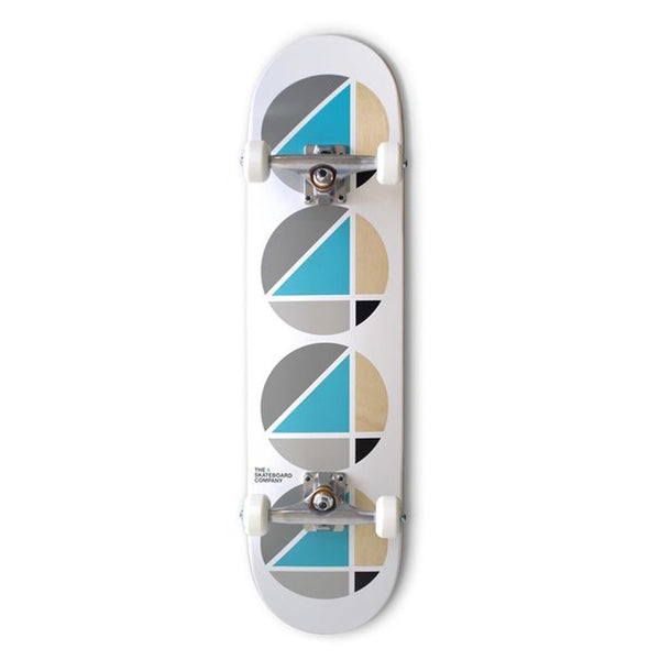 4 Skateboard Co Complete Repeat Teal White