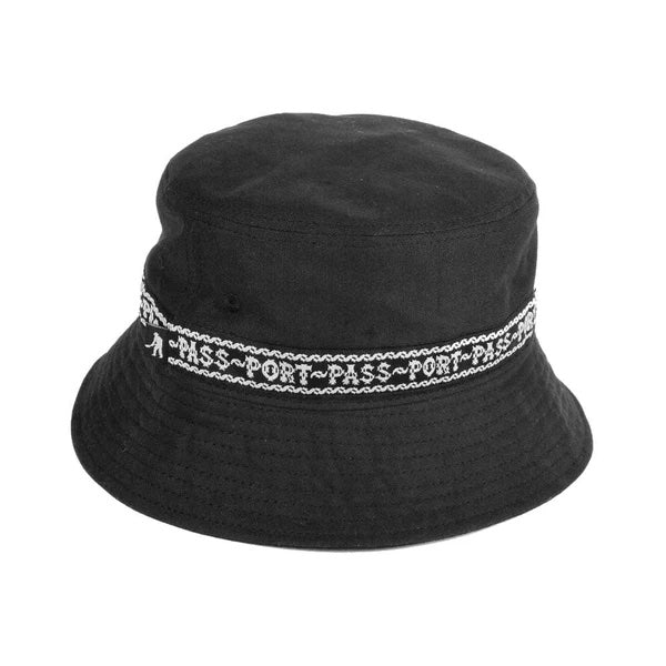 Passport Autoribbon Bucket Hat Black