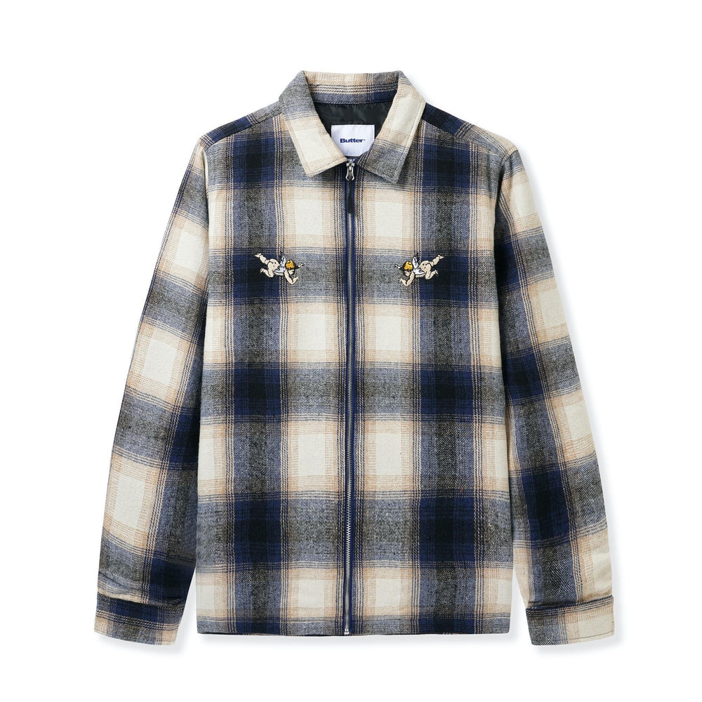 Butter Goods Angel Plaid Overshirt Navy / Beige