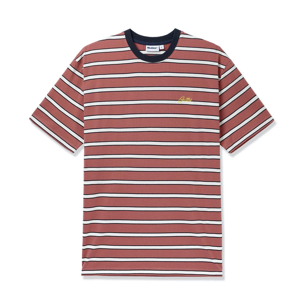 Butter Goods Beach Stripe Tee Coral
