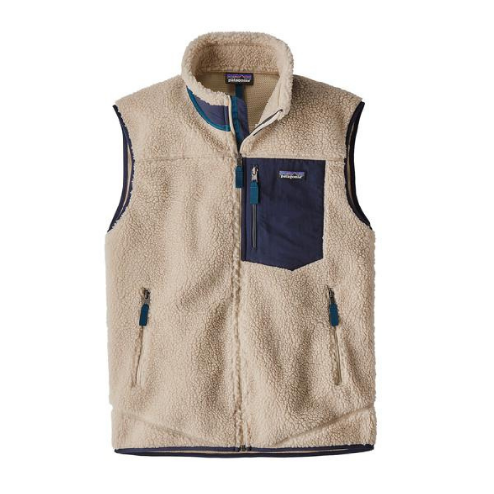 Patagonia M's Classic Retro Vest Natural | 1991 Skateshop | Fremantle WA