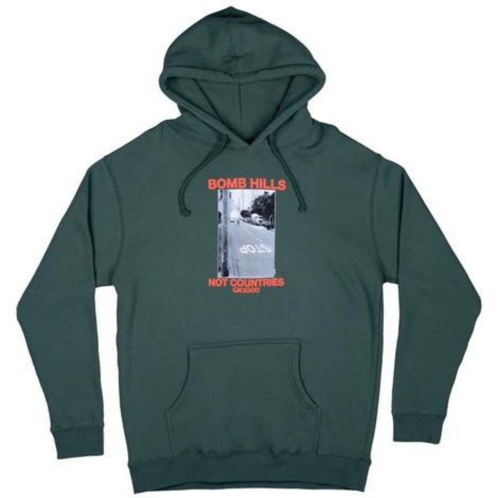GX1000 Bomb Sweat Hood Green | 1991 Skateshop | Fremantle WA