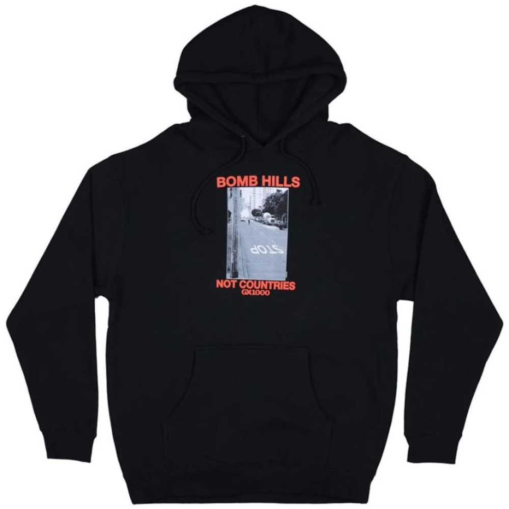 GX1000 Bomb Sweat Hood Black | 1991 Skateshop | Fremantle WA