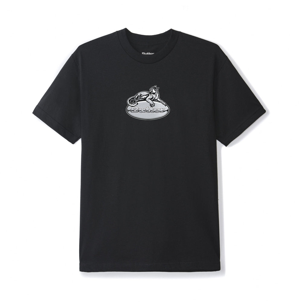 Butter Goods Cougar Badge Logo Tee Black