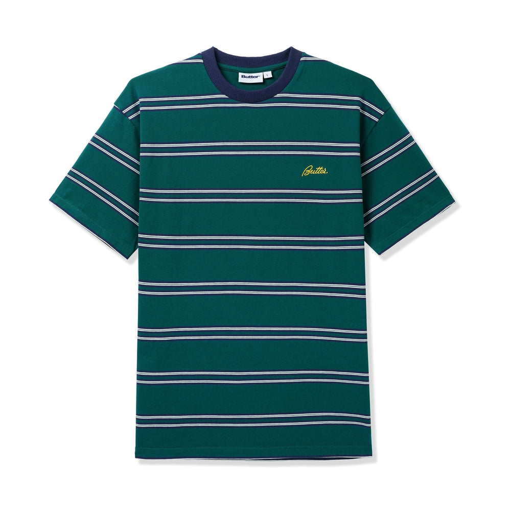 Butter Goods Market Stripe Tee Forest / White / Navy