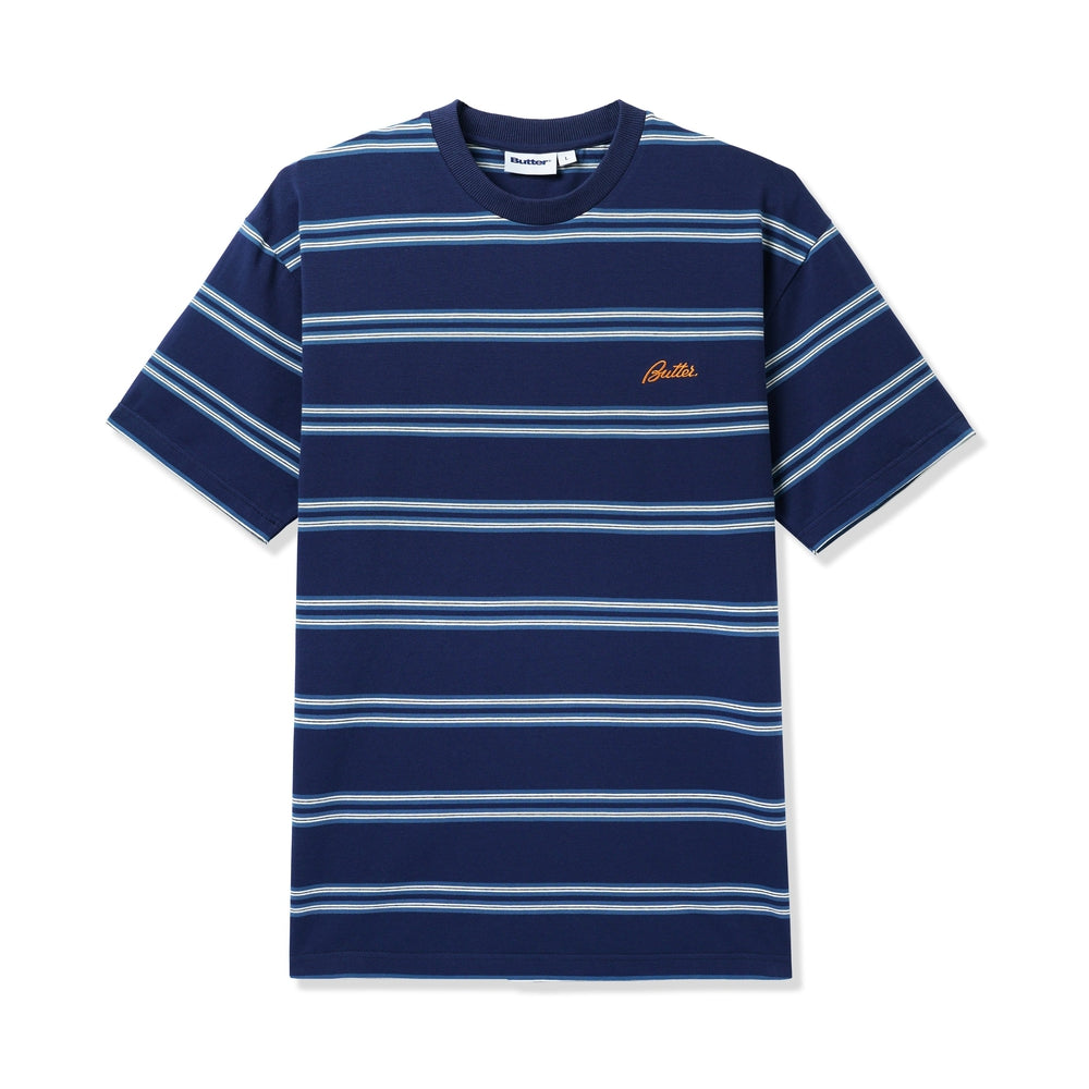 Butter Goods Market Stripe Tee Navy / White / Teal