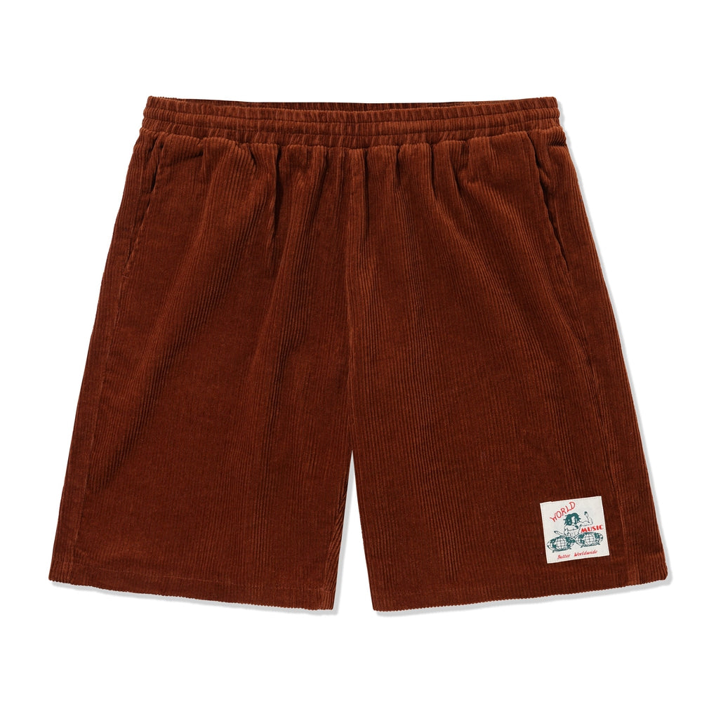 Butter Goods World Music Shorts Rust
