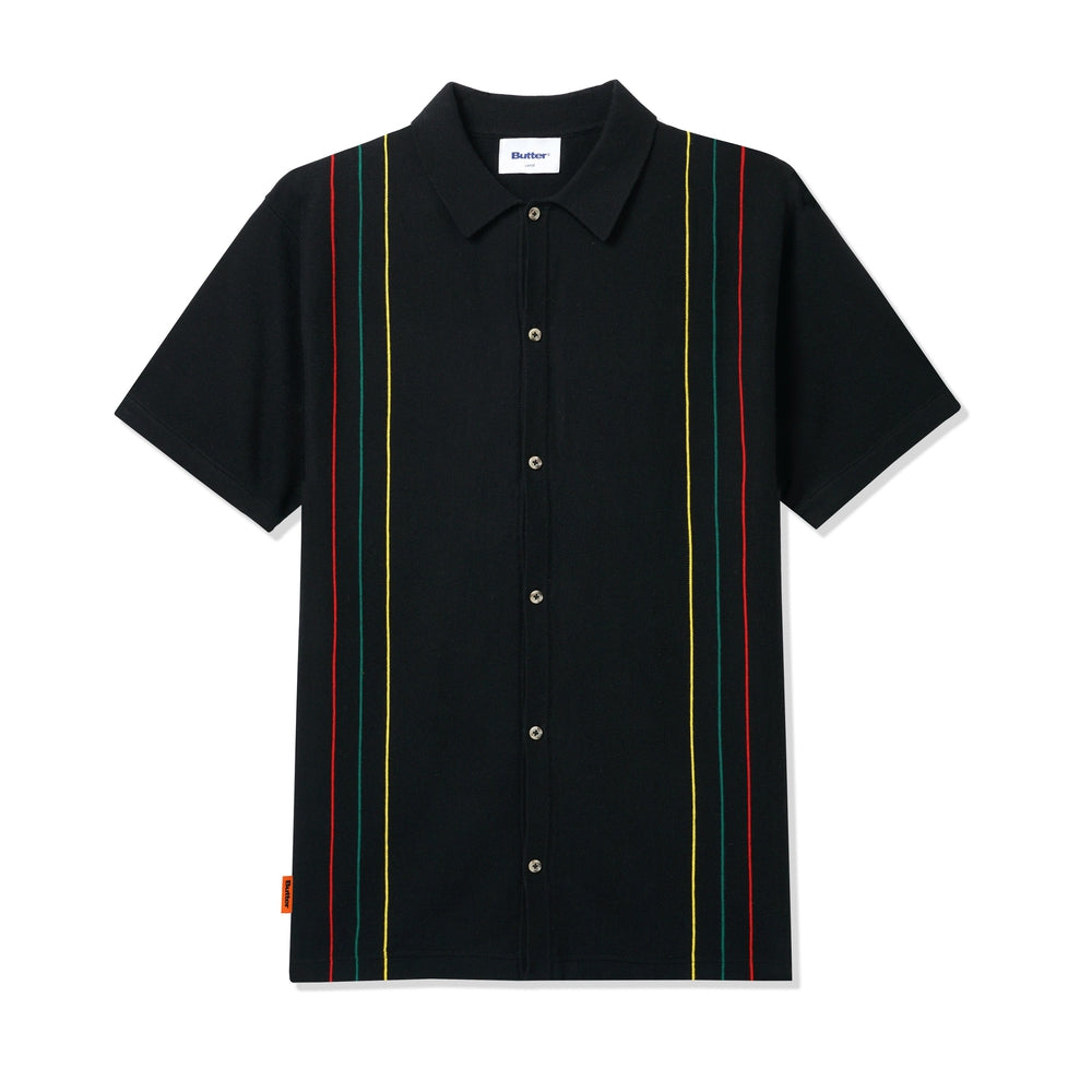 Butter Goods Stripe Knit Shirt Black