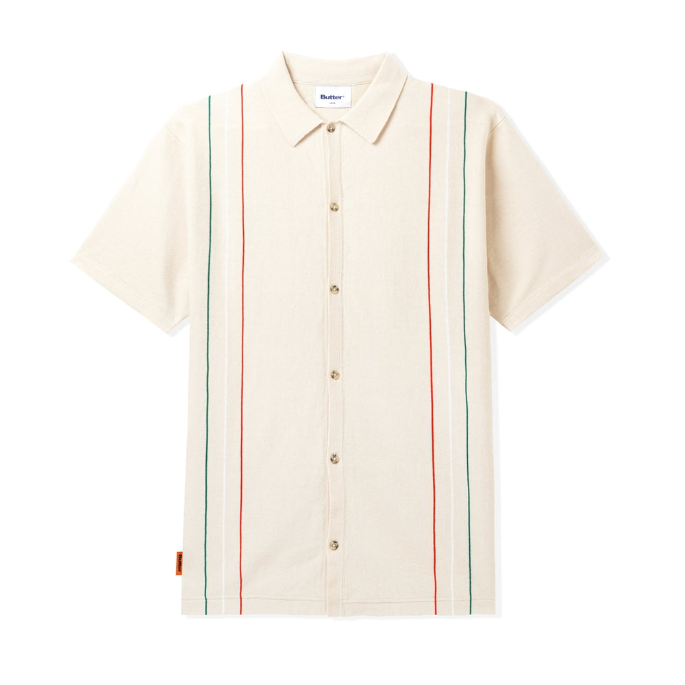 Butter Goods Stripe Knit Shirt Bone
