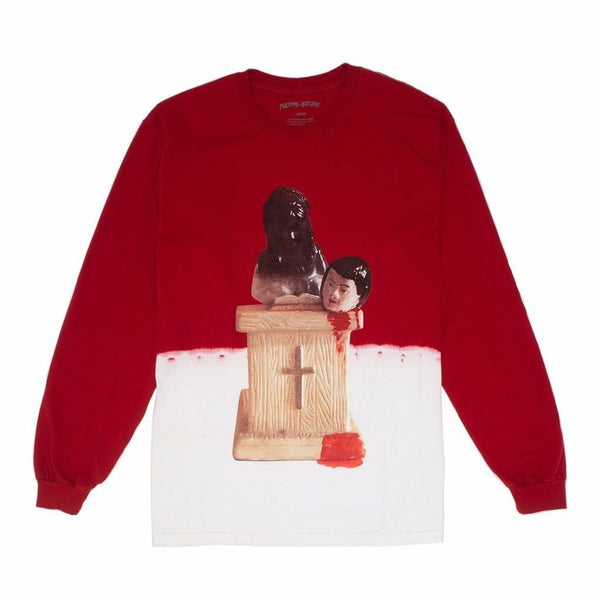 FA Prey Bleach Dyed L/S Tee Red