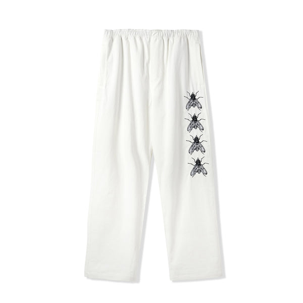 Butter Goods Swarm Embroidered Pants White