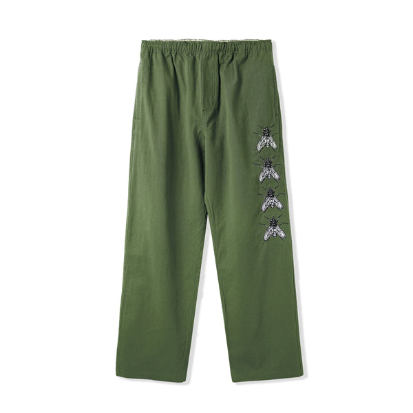 Butter Goods Swarm Embroidered Pants Army