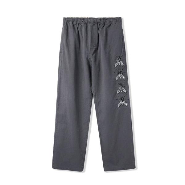 Butter Goods Swarm Embroidered Pants Charcoal