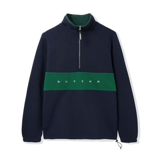 Butter Goods Hampshire 1/4 Zip Pullover Navy/Forest