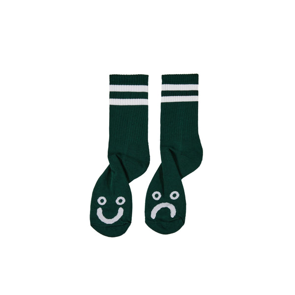 Polar Skate Co Happy Sad Socks Dark Green