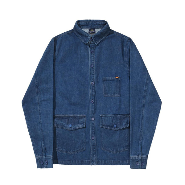 Helas Over Shirt Jacket Denim Blue