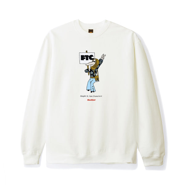 Butter Goods x FTC Hippie Crewneck Bone