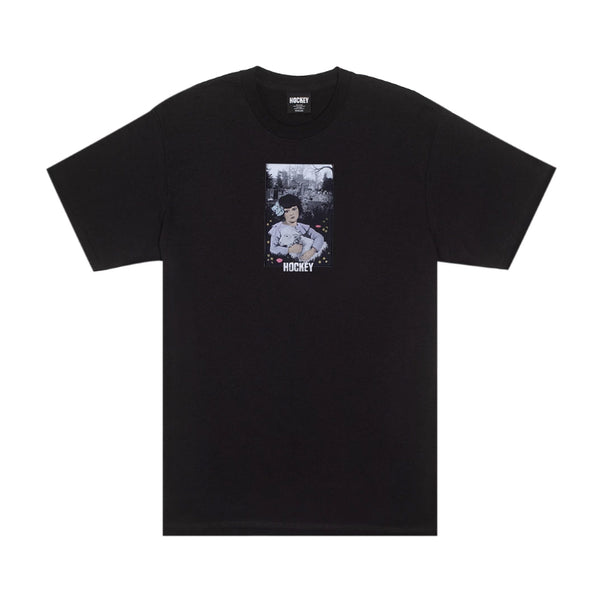 Hockey Lamb Girl Tee Black