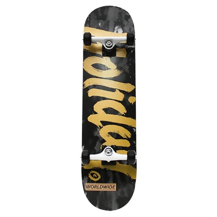 Holiday Skateboards Complete Tie Dye Black/Gold 8.25 | 1991 Skateshop | Fremantle WA
