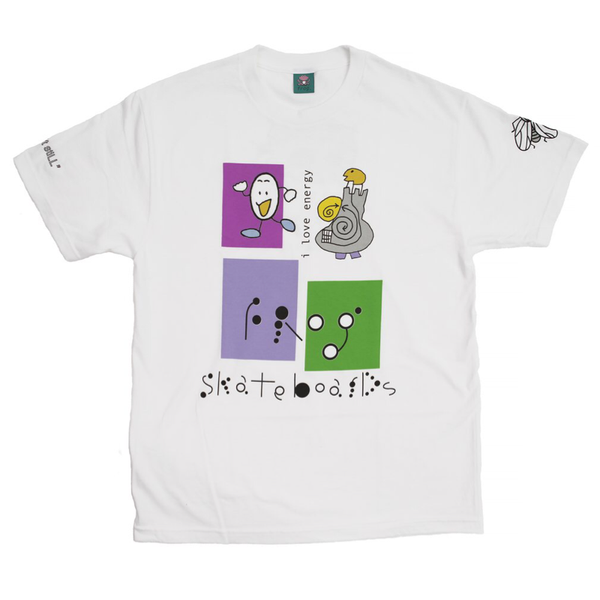 Frog Skateboards I Love Energy Tee White