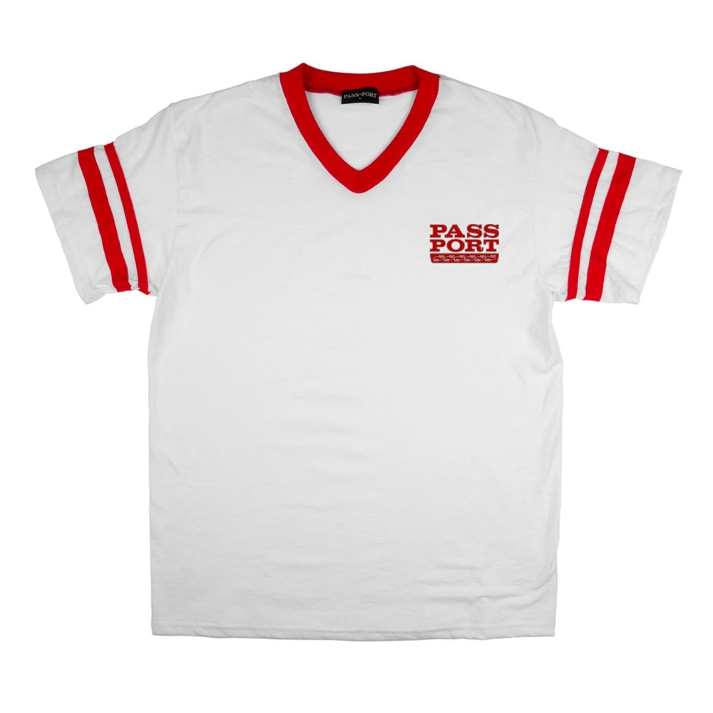 Passport Auto Stripes Jersey White/Red