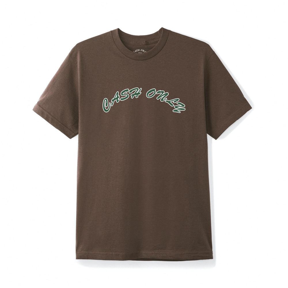 Cash Only Logo T-Shirt Brown