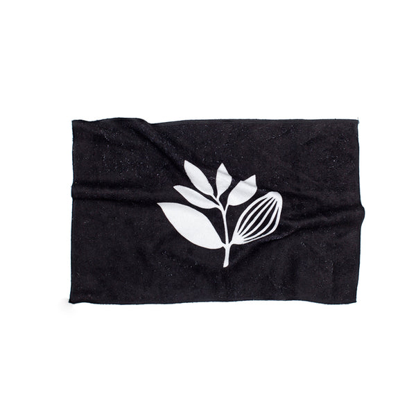 Magenta Hand Towel Black