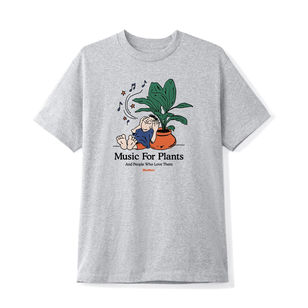 Butter Goods Music For Plants Tee Ash Grey