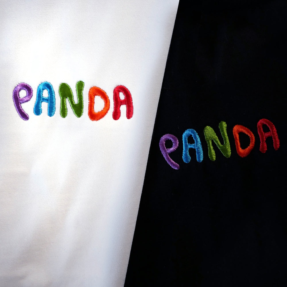Panda Logo Embroidered Youth Tee Multi/Black