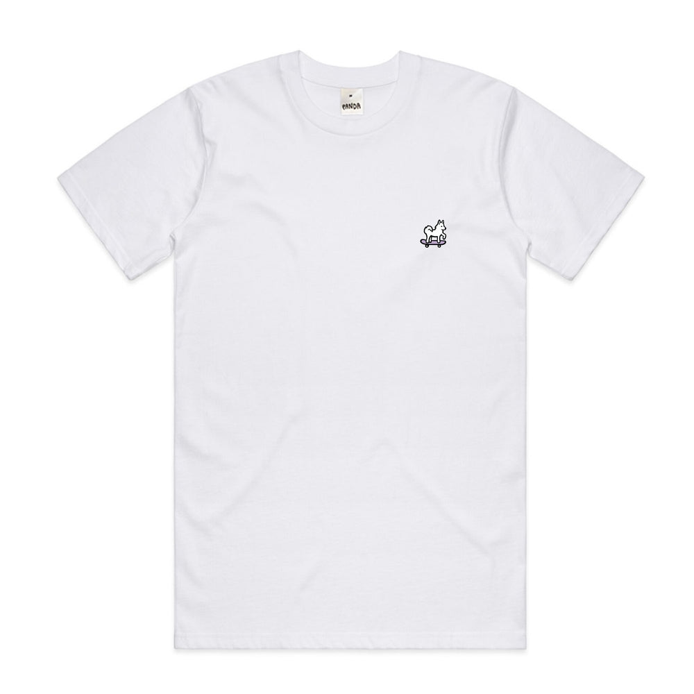 Panda Skate Embroidered Youth Tee Lavender/White