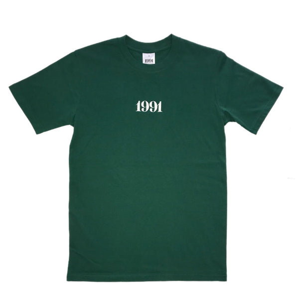 1991 Tee Emerald Green / White Embroid Q2-19