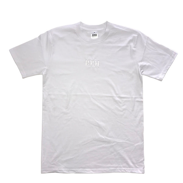 1991 Tee White / White Embroid Q2-19