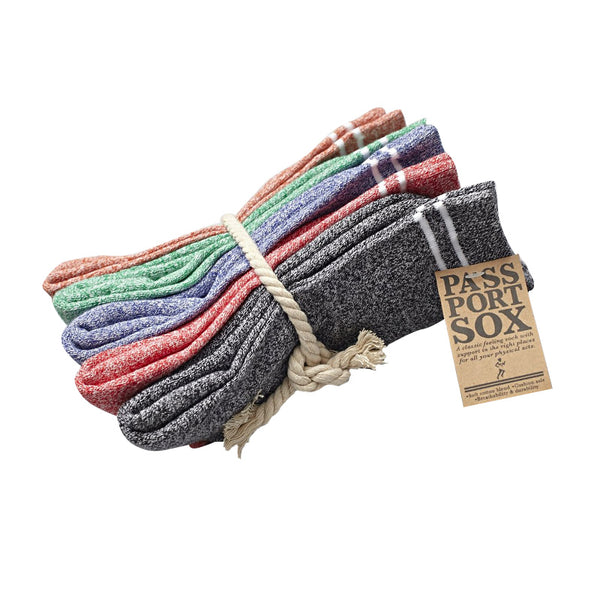 PassPort Hi Sox 5 Pack Heather