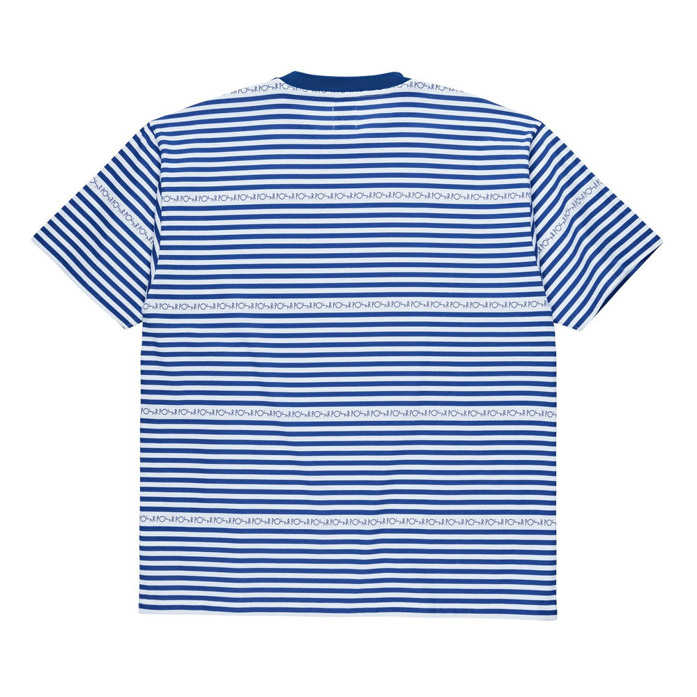 Polar Skate Co Stripe Logo Tee - Dark Blue