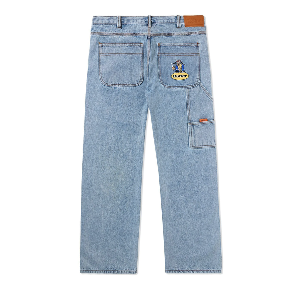 Butter Goods Homeboy Denim Pants Washed Light Blue