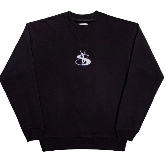 Yardsale Embroidered  Crewneck Black