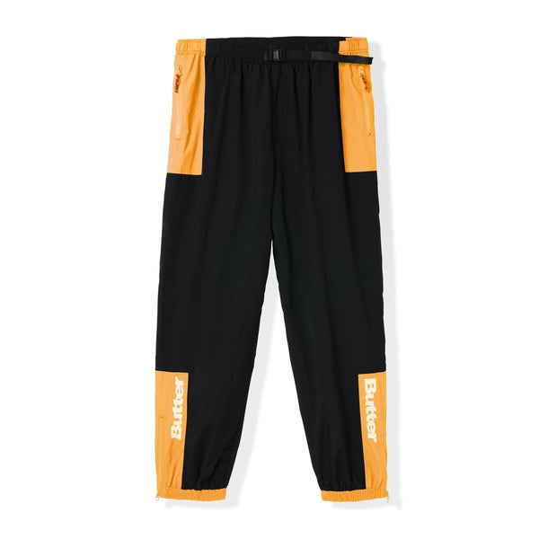 Butter Goods Search Track Pants Black/Peach